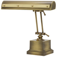 Signature 13 inch 60 watt Antique Brass w/Polished Brass Accents Desk Piano Lamp Portable Light in Antique Brass with Polished Brass Accents