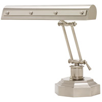 Signature 12 inch 60 watt Satin Nickel w/Polished Nickel Accents Desk Piano Lamp Portable Light in Satin Nickel with Polished Nickel Accents