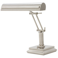 House of Troy PS14-201-SN/PN Signature 12 inch 60 watt Satin Nickel w/Polished Nickel Accents Desk Piano Lamp Portable Light in Satin Nickel with Polished Nickel Accents photo thumbnail