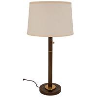 Rupert 31 inch 75 watt Chestnut Bronze with Weathered Brass Table Lamp Portable Light