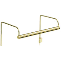 House of Troy Slim-line 2 Light Picture Light in Polished Brass SL11-61
