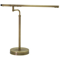 Slim-line 18 inch Antique Brass Table Lamp Portable Light