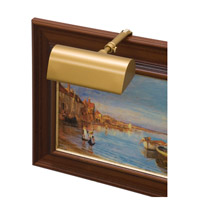 House of Troy T5-1 Classic Traditional 15 watt 5 inch Gold Picture Light Wall Light photo thumbnail