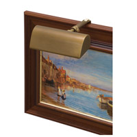 Classic Traditional 15 watt 5 inch Weathered Brass Picture Light Wall Light