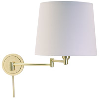 House of Troy Townhouse 1 Light Swing-Arm Wall Lamp in Raw Brass TH725-RB