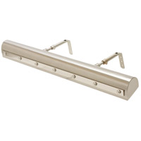 Classic 120 watt 24 inch Satin Nickel w/Polished Nickel Accents Picture Light Wall Light in Satin Nickel with Polished Nickel Accents