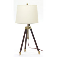 House of Troy Tripod 1 Light Table Lamp in Antique Brass TR250-AB