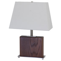 House of Troy VT Hardwood 1 Light Table Lamp in Satin Nickel VH250A-SN