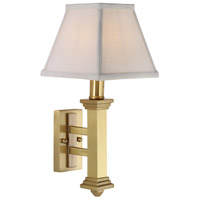 House of Troy WL609-SB Decorative Wall Lamp 1 Light 7 inch Satin Brass Wall Lamp Wall Light photo thumbnail