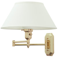 House of Troy Decorative Wall 1 Light Swing-Arm Wall Lamp in Polished Brass WS-704