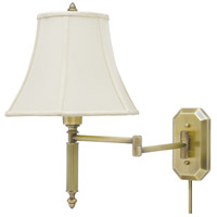 House of Troy Decorative Wall 1 Light Swing-Arm Wall Lamp in Antique Brass WS-706-AB
