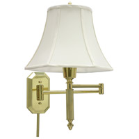 House of Troy Decorative Wall 1 Light Swing-Arm Wall Lamp in Polished Brass WS-706