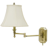 House of Troy Decorative Wall 1 Light Swing-Arm Wall Lamp in Antique Brass WS-708-AB