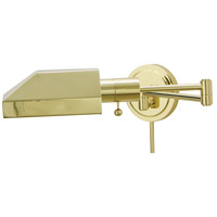 House of Troy Home and Office 1 Light Swing-Arm Wall Lamp in Polished Brass WS12-61-J