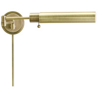 House of Troy Home and Office 1 Light Swing-Arm Wall Lamp in Antique Brass WS12-71-F