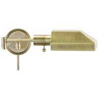 House of Troy Home and Office 1 Light Swing-Arm Wall Lamp in Antique Brass WS12-71-J