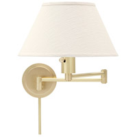 House of Troy Home and Office 1 Light Swing-Arm Wall Lamp in Satin Brass WS14-51