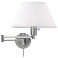 House of Troy WS14-52 Home/Office 19 inch 100 watt Satin Nickel Wall Swing Arm Wall Light in 12.5 photo thumbnail