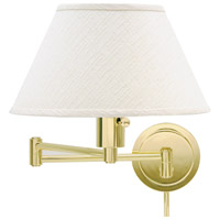 House of Troy Home and Office 1 Light Swing-Arm Wall Lamp in Polished Brass WS14-61