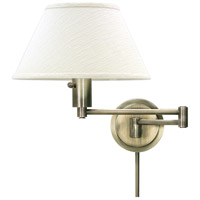 House of Troy Home and Office 1 Light Swing-Arm Wall Lamp in Antique Brass WS14-71