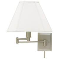 House of Troy Decorative Wall 1 Light Swing-Arm Wall Lamp in Pewter WS16-31