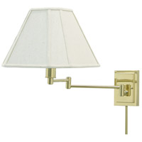 House of Troy Decorative Wall 1 Light Swing-Arm Wall Lamp in Polished Brass WS16-61