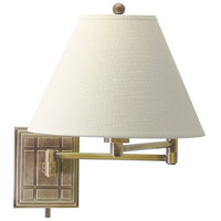 House of Troy Decorative Wall 1 Light Swing-Arm Wall Lamp in Antique Brass WS750-AB