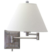 House of Troy Decorative Wall 1 Light Swing-Arm Wall Lamp in Antique Silver WS750-AS