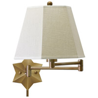 House of Troy Decorative Wall 1 Light Swing-Arm Wall Lamp in Antique Brass WS751-AB