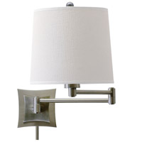 House of Troy Decorative Wall 1 Light Swing-Arm Wall Lamp in Antique Silver WS752-AS