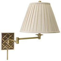 House of Troy Decorative Wall 1 Light Swing-Arm Wall Lamp in Antique Brass WS760-AB
