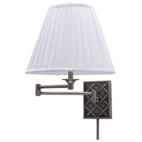 House of Troy Decorative Wall 1 Light Swing-Arm Wall Lamp in Antique Silver WS760-AS