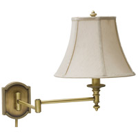 House of Troy Decorative Wall 1 Light Swing-Arm Wall Lamp in Antique Brass WS761-AB