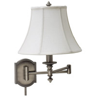 House of Troy Decorative Wall 1 Light Swing-Arm Wall Lamp in Antique Silver WS761-AS