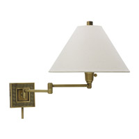 House of Troy Decorative Wall 1 Light Swing-Arm Wall Lamp in Antique Brass WS762-AB