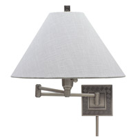 House of Troy Decorative Wall 1 Light Swing-Arm Wall Lamp in Antique Silver WS762-AS