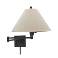 House of Troy Decorative Wall 1 Light Swing-Arm Wall Lamp in Oil Rubbed Bronze WS762-OB