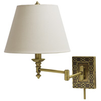 House of Troy Decorative Wall 1 Light Swing-Arm Wall Lamp in Antique Brass WS763-AB