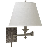 House of Troy Decorative Wall 1 Light Swing-Arm Wall Lamp in Antique Silver WS763-AS
