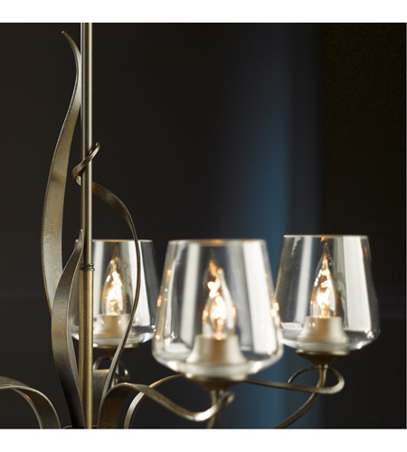 Hubbardton Forge 103040-1006 Flora 5 Light 27 inch Bronze Chandelier Ceiling Light