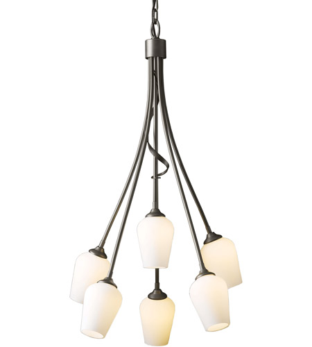 Hubbardton Forge 103043-1004 Flora 6 Light 23 inch Bronze Chandelier Ceiling Light