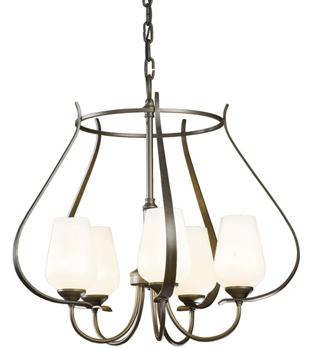 Hubbardton Forge 103045-1022 Flora 5 Light 22 inch Natural Iron Chandelier Ceiling Light
