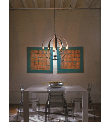 Hubbardton Forge 104205-1003 Double Cirque 8 Light 25 inch Dark Smoke Chandelier Ceiling Light 104205-07-NO_LS.jpg