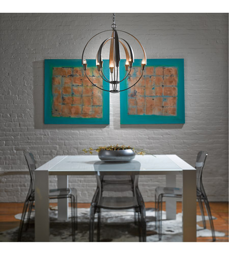 Hubbardton Forge 104205-1003 Double Cirque 8 Light 25 inch Dark Smoke Chandelier Ceiling Light 104205-SKT-07_3.jpg