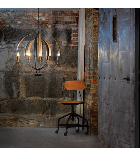 Hubbardton Forge 104205-1003 Double Cirque 8 Light 25 inch Dark Smoke Chandelier Ceiling Light 104205-SKT-07_4.jpg