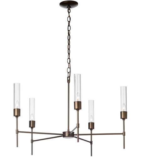 Hubbardton Forge 105045 1007 Vela 5 Light 30 Inch Soft Gold Chandelier Ceiling