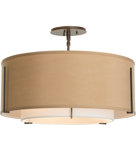Hubbardton Forge 126503-2088 Exos 3 Light 23 inch Mahogany Semi-Flush Mount Ceiling Light 126503-SKT-07-SF1590-SB2290_2.jpg