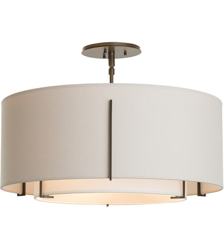 Hubbardton Forge 126503-2088 Exos 3 Light 23 inch Mahogany Semi-Flush Mount Ceiling Light 126503-SKT-07-SF1590-SE2290_3.jpg