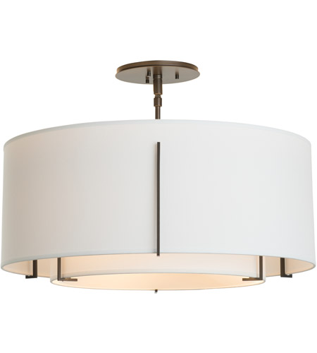 Hubbardton Forge 126503-2088 Exos 3 Light 23 inch Mahogany Semi-Flush Mount Ceiling Light 126503-SKT-07-SF1590-SF2290_4.jpg