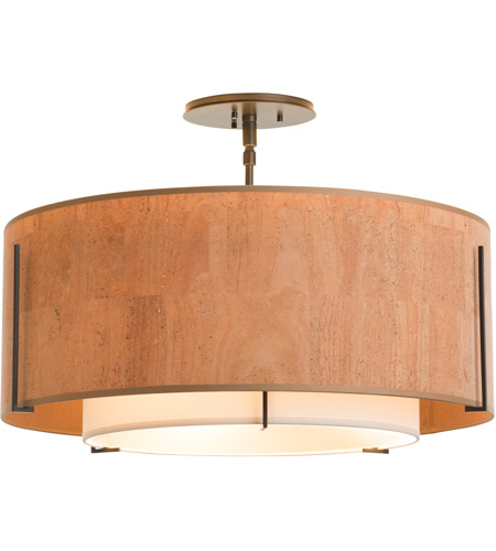 Hubbardton Forge 126503-2088 Exos 3 Light 23 inch Mahogany Semi-Flush Mount Ceiling Light 126503-SKT-07-SF1590-SG2290_5.jpg